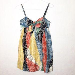 BCBGMaxAzria 2 Colorful Spaghetti Strap Mini Dress